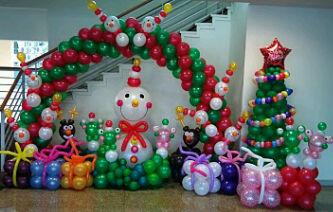 Dekorasi Natal Balon