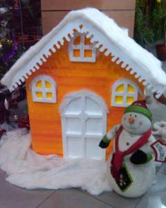 dekorasi natal di gedung harga murah | properti styrofoam