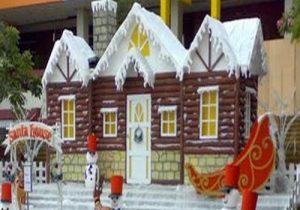 dekorasi panggung untuk acara natal   properti styrofoam