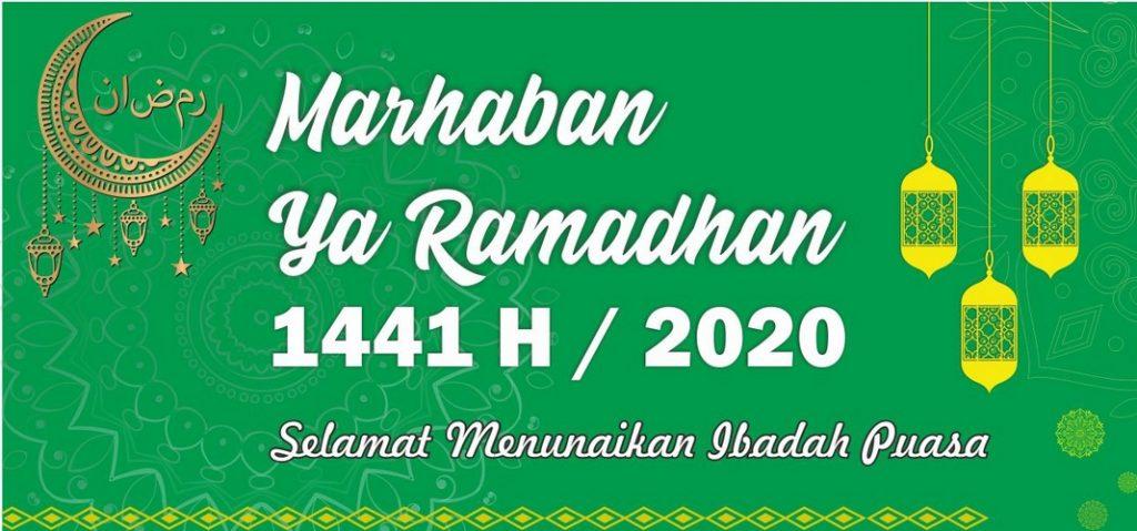 Banner ucapan selamat Ramadan